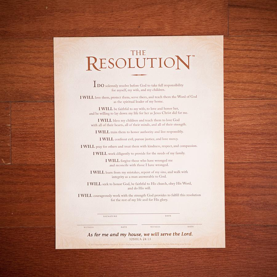 Courageous Men Resolution
